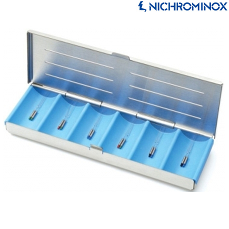 Nichrominox Cassette with Division or compartment for small dental instrument
