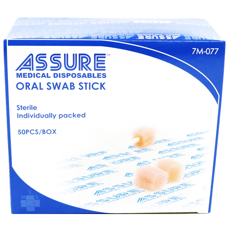Assure Swab Stick Oral Use, Individually packed, 50 pcs/box