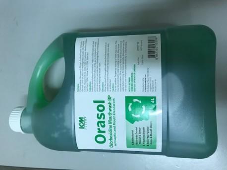 Orasol Antiseptic Mouthwash, 4 Litre Jar