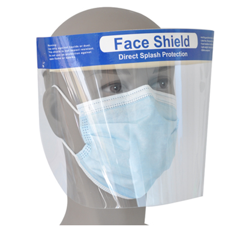 Face Shield with Elastic Headband, 1 unit/Bag