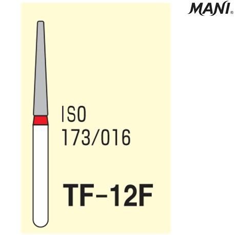 MANI Diamond Bur Tapered Fissure,Fine TF-12F (3pcs/pack)