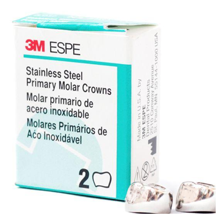 3M Stainless Steel 2nd Primary Molar Crown Upper Left (E-UL) & Upper Right (E-UR) Refill