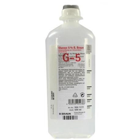 B Braun Glucose 5% Intravenous Infusion B.P. 500ml