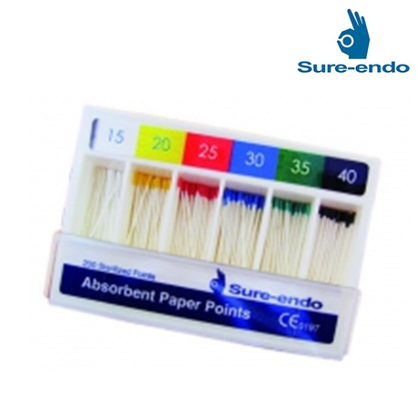 Sure Endo ISO Standardized (2%) Paper Points Size #90 ~ 140 (non marked)