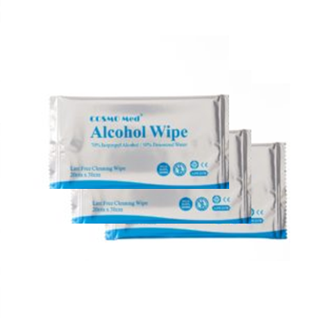 Alcohol wipes, 20x30cm, Lint free 50/Pack