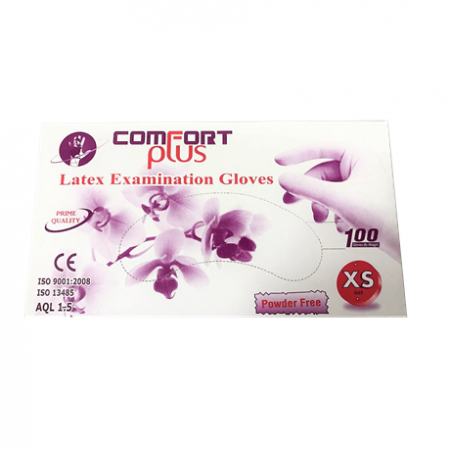 Comfort Plus Latex Examination Gloves Powder-Free (Per Box)