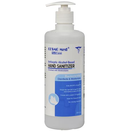 Hand sanitizer, Alcohol-based (Chlorhexidine 0.5% and Ethanol Alcohol 70%), 500ml