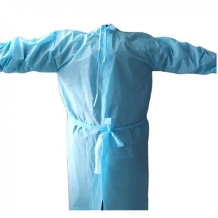 Disposable Isolation Gowns with Knitted cuff and Neck Tie-on, 40gsm, 100PCS/CTN