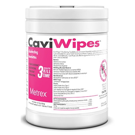 CaviWipes, Disinfectant Wipes, 6''x 6.75''(Canister of 220 sheets)