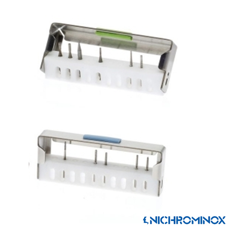 Nichrominox Bur Flash Holder with 10-holes