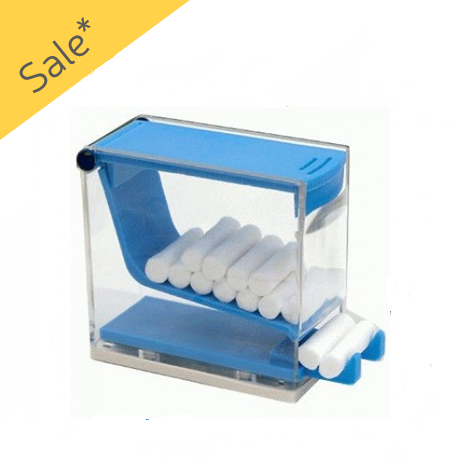 Cotton Rolls Dispenser- Blue