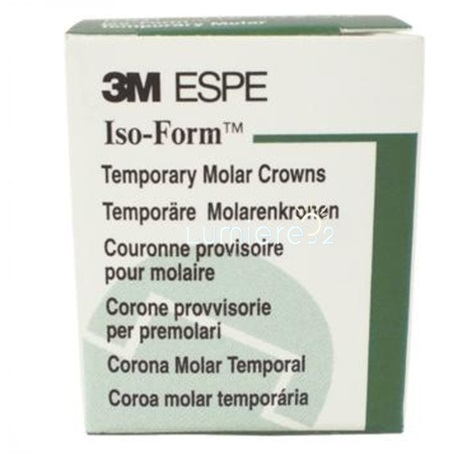 3M™ Iso-Form™ Temporary Crowns Upper Molars 5pcs/Box