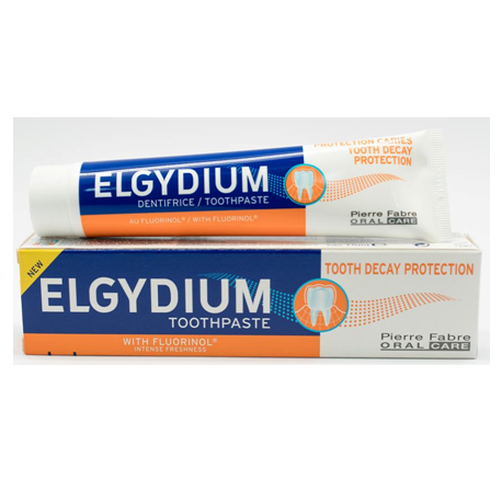 Elgydium Tooth Decay Protection Toothpaste 75ml ( X 8 Packs )