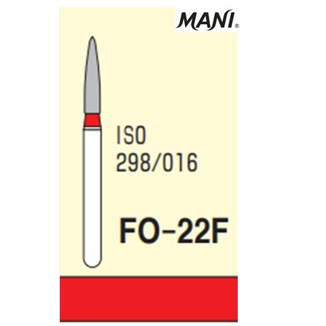 MANI Diamond Bur Flame Shaped,Fine FO-22F (5pcs/pack)