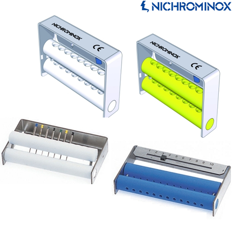 Nichrominox Endo Dispenser/ File Holder,Stainless Steel with Teflon