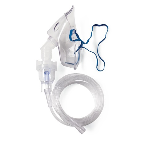 Sterile Nebulizer Elongated Mask with 7ft Tubing, Adult