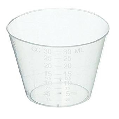 Medicine Cup with measurement, 30ml (Pack/50s)