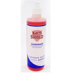 BACTISHIELD Hand Wash, 500ml (Chlorhexidine 4%) (WITH PUMP)