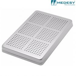 Medesy Tray Perforated Aluminium Silver - Lid #999