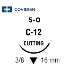 Covidien Sofsilk™ 5-0 Black Suture material 75cm 16mm C-12 (36pcs/Box)