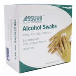 Assure Alcohol Swab Sterile 4cmX4cm-2ply, 200s/box