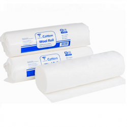 Absorbent White Cotton Wool Roll, Each