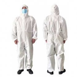 Disposable Protective Coverall Full Body Suit, White