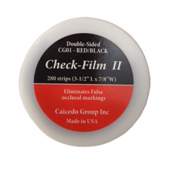 Check-Film II (articulating paper) Double-Sided Red/Black, 280 Strips
