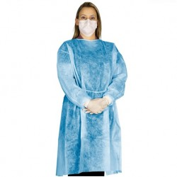 Isolation Gowns 40g with velcro neck (50pcs/carton)