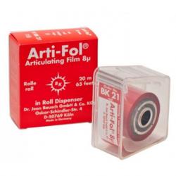 Arti-FOL Plastic 8µm 22mm wide Red (20m) 1-sided Articulating Paper