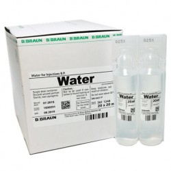 B Braun Water for Injections B.P. 20 x 20ml