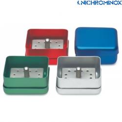 Nichrominox 12-holes Bur block with aluminium box