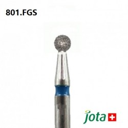 Round Diamond Bur, FG Short Shank, 5pcs/pack (801.FGS)