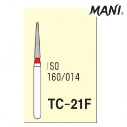 Mani Diamond Bur (TC-21F), Fine, 5 pcs/pack