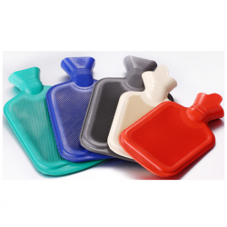 Warm water bag with cover, 2000ml, with plastic stopper