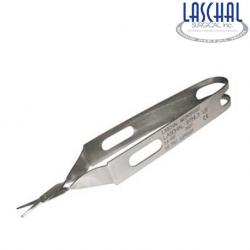 Laschal 11.5 cm scissors w/ 1.25 cm straight, blunt/blunt 'duck-bill'