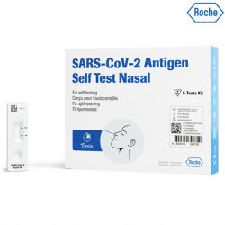 ROCHE SARS-CoV-2 Antigen Self Test Nasal (ART), 25 Test Kits/Box