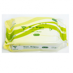 Disposable Wet Wipes, 20x30cm  Pack/40
