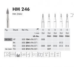Meisinger Tungsten carbide burs HM 246.314.009 (5pcs/pack)