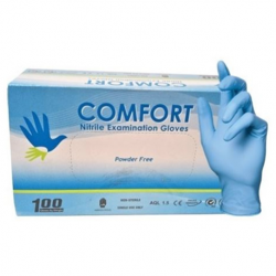 Comfort Nitrile Examination Gloves Powder-Free, Extra Large (10boxes/Carton)