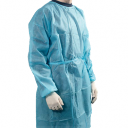 Disposable Isolation Gowns with Knitted cuff and NeckTie-on, 30gsm 100PCS/CTN