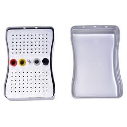 Bur Stand Box Aluminium Dental Endo Storage Box, 120 Holes
