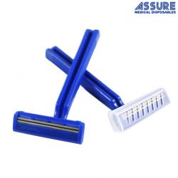 Assure Razor Double Edge Disposable Blue,100 Pack/Box