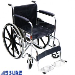 Assure Standard wheelchair with fixed arm and footrest 19.5''chromed