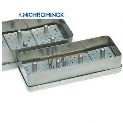 Nichrominox 12 holes 4 Bur blocks with 1 Stainless steel box