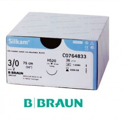 B. Braun Silkam Suture Black 3/0 45cm (DS19) 36pcs/box