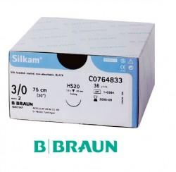 B. Braun Silkam Suture Black 3/0 45cm (DS19) 36pcs/box