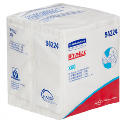 WypAll X60 Single Sheet Wipers 100pcs/pack, 8 packs/Carton #94224