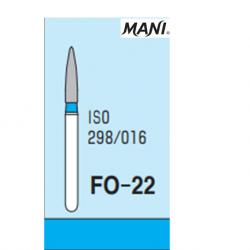 MANI Diamond Bur Flame Shaped FO-22 (5pcs/pack)
