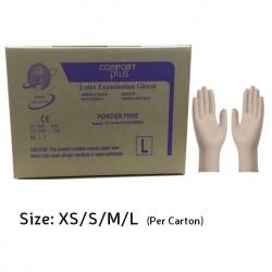 Comfort Plus Latex Examination Gloves Powder-Free, X-Small (1 carton)
